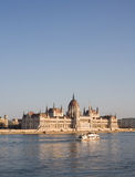 The splendid Hungarian parliament building. Royalty Free Stock Photography