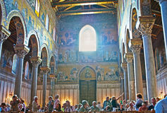 The splendid interior of Monreale Cathedral Stock Images