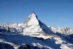 Splendid Matterhorn in Switzerland. The tip top of splendid matterhorn in December Royalty Free Stock Photos