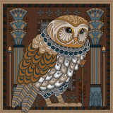 Splendid owl coloring page Royalty Free Stock Image