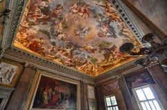 The splendid Royal Palace of Caserta, its interiors stock image