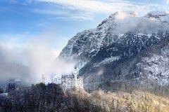 Splendid scene of royal castle Neuschwanstein and surrounding area in Bavaria, Germany Deutschland Stock Images