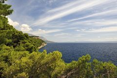 Splendid seacoast of Croatia Stock Photos
