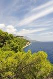 Splendid seacoast of Croatia Stock Images