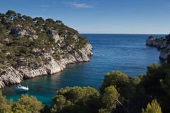Splendid southern France coast Stock Photography