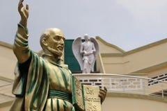 Statue of St.Ignatius. The splendid statue of saint ignatius of Loyola .Present in Loyola School Jamshedpur stock photography