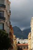 Splendid street view of menton Stock Photos