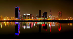 Splendid striking HDR of Bahrain Skyline Stock Images