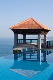 Splendid swimming pool in a hotel resort Stock Image
