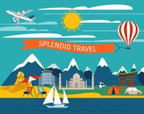 Splendid Travel Background Stock Photos