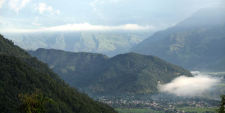 Splendid view of Pokhara valley Royalty Free Stock Photos