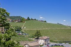 Aerial view of the vineyards of Barolo, Piedmont. royalty free stock photography