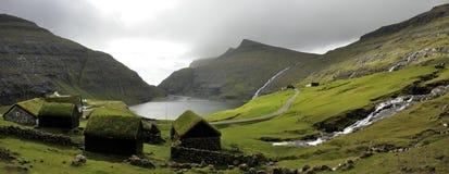 Faroe island Saksun royalty free stock photography
