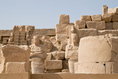 Splendor of ancient Luxor, Egypt. Monuments at ancient Luxor, Egypt Royalty Free Stock Image