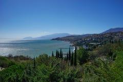 The Splendor Of The Crimea. Sea landscape in the Crimea, Malorechenskoye Stock Images