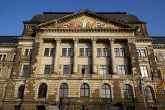 Splendor of Dresden 4. The Saxon chancellery building in Dresden's Neustadt Stock Photo