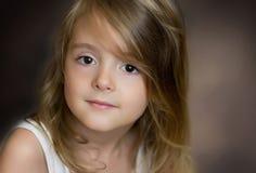 Splendor małej dziewczynki portret Pięknego dziecka portret zdjęcia royalty free