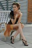 Splendor mody model w projektantów ubraniach Obraz Stock