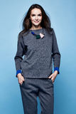 Splendor mody stylu kobiety pięknych seksownych ubrań przypadkowy kostium s Fotografia Stock