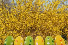 Easter is one of the two most important holidays in the Christian religion. The splendor of spring colors on Easter eggs means that great news connected with Royalty Free Stock Photos