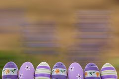 Easter is one of the two most important holidays in the Christian religion. The splendor of spring colors on Easter eggs means that great news connected with Royalty Free Stock Image