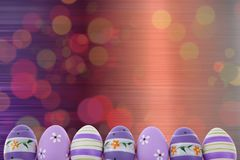 Easter is one of the two most important holidays in the Christian religion. The splendor of spring colors on Easter eggs means that great news connected with Royalty Free Stock Images