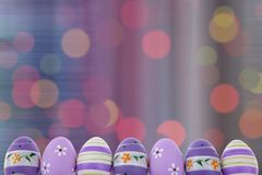 Easter is one of the two most important holidays in the Christian religion. The splendor of spring colors on Easter eggs means that great news connected with Stock Photography