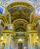 The splendor of St Isaac's Cathedral in St Petersburg Royalty Free Stock Photo