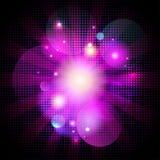 Splendor sztuki bokeh różowy tło z kropkami. Obraz Royalty Free