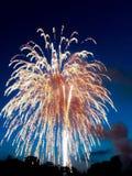 Splendore del fuoco d'artificio fotografia stock