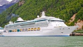 Splendore della nave da crociera dell'Alaska dei mari Fotografia Stock Libera da Diritti