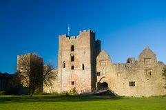 Splendour of the castle. Ludlow castle Royalty Free Stock Photos