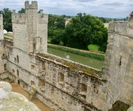 Splendour of the castle. Bodiam castle at Robertsbridge in East Sussex England uk royalty free stock photography