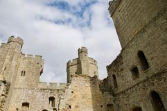 Splendour of the ruins. Bodiam castle at Robertsbridge in East Sussex England uk royalty free stock image