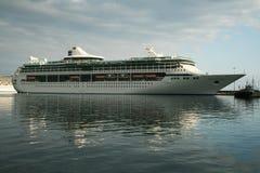 Splendour seas. The cruise ship spendour seas in the port of katakolon in greece Stock Photos