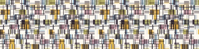 Free Spliced Plaid Check Grid Variegated Border Background. Seamless Pattern With Woven Dye Broken Lines. Mid Century Modern Stock Photos - 165966243