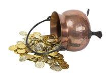 Splilled Pot of Gold Royalty Free Stock Photos