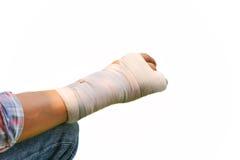 Splint broken bone  hand Injured Stock Photos