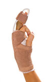 Splint on the middle finger Royalty Free Stock Photo