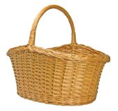 Splint Willow Wicker Basket Isolated Stock Photos
