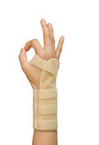 Splint for wrist fracture Stock Photo