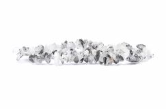 Splintered tourmalinequartz chain on white background Stock Images