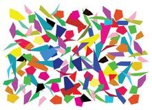Splinters. Vector background of color splinters stock illustration