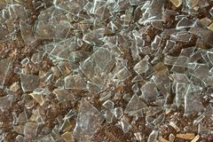 Splinters of glass. Floor and splinters of glass royalty free stock image