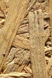 Splinters of pressed wood on sand Stock Image