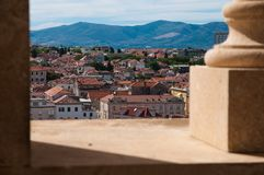 Split aerial view, Croatia royalty free stock photography