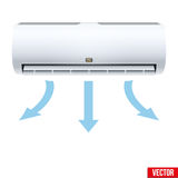 Split air conditioner house system Stock Photography