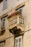 Split, Balcony. Old tiny balcony. Split, Croatia Royalty Free Stock Photo