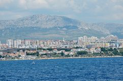 Split a beautiful maritime city Royalty Free Stock Photography