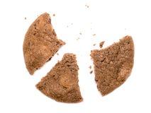 Split bitten cookie Stock Images